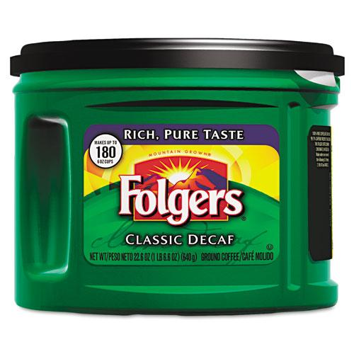 Folgers Ground Classic Roast Decaffeinated 22.6-oz Can Coffee