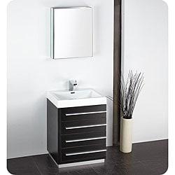 Fresca Livello 24-inch Black Bathroom Vanity and Medicine Cabinet