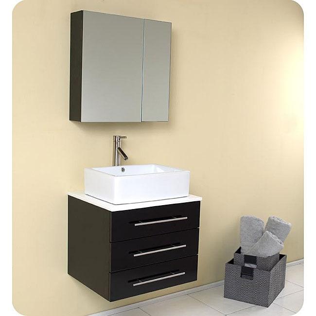 fresca modella espresso bathroom vanity and medicine cabinet