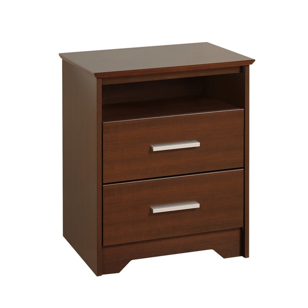 Yaletown 2-drawer Tall Espresso Night Stand