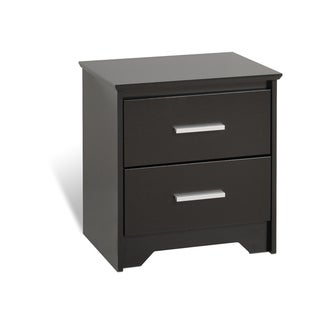 Yaletown 2-drawer Black Night Stand