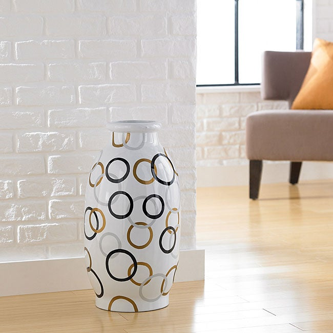 Modern Circles Decorative Jug Vase (Indonesia)