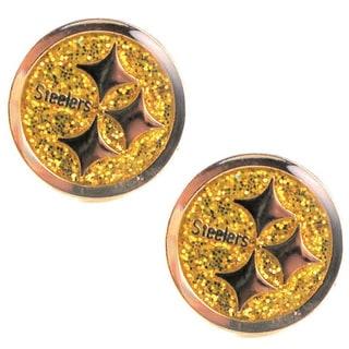 Pittsburgh Steelers Glitter Stud Earrings