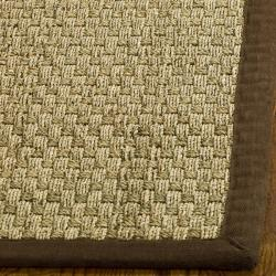 Hand-woven Sisal Natural/ Brown Seagrass Runner (2'6 x 10')