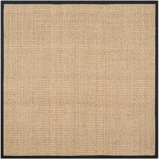 Safavieh Hand-woven Sisal Natural/ Black Seagrass Rug (8' Square)