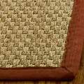 Hand-woven Sisal Natural/ Red Seagrass Runner (2'6 x 6')