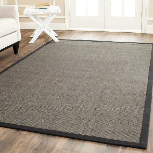 Safavieh Hand-woven Natural Fiber Serenity Charcoal Grey Sisal Rug (5' x 8')