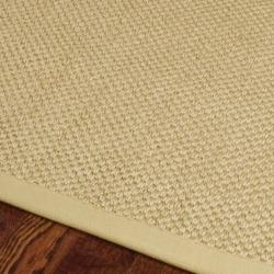 Hand-woven Resorts Natural/ Beige Fine Sisal Rug (6' Square)