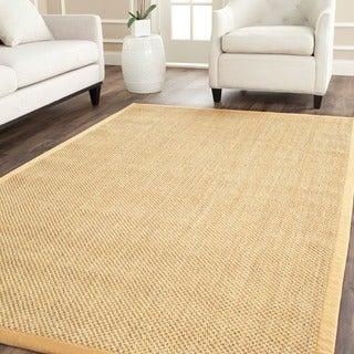 Safavieh Hand-woven Resorts Natural/ Beige Fine Sisal Rug (8' Square)