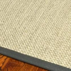 Hand-woven Resorts Natural/ Grey Fine Sisal Rug (5' x 8')