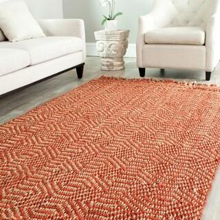 Safavieh Hand-woven Arts Natural/ Rust Fine Sisal Rug (5' x 8')