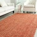 Hand-woven Arts Natural/ Rust Fine Sisal Rug (5' x 8')