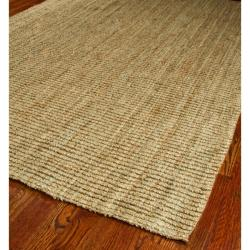 Hand-woven Weaves Natural-colored Fine Sisal Runner (2'6 x 4')