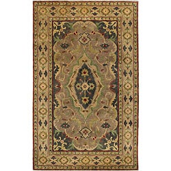 Hand-knotted Livny Beige Wool Rug (8' x 11')