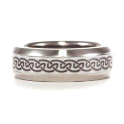Men's Titanium and Ceramic Weave Design Band
