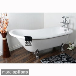 Vintage Collection 69-inch Acrylic Slipper Clawfoot Tub with 7-inch Rim Drillings