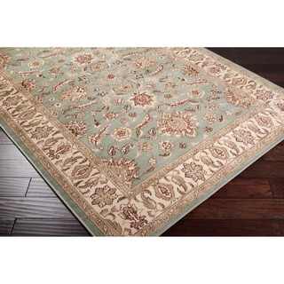 Free Form Seafoam Classic Border Rug