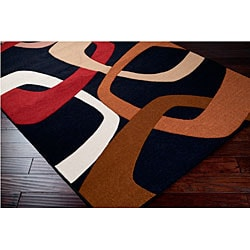 Loomed Replica Black Geometric Rug (7'10 x 10'1)