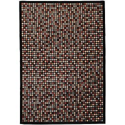 Meticulously Woven Cubism Multi Colored Circles Geometric Abstract Rug (7'10 x 10'10)