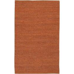Hand-woven Cottage Orange Natural Fiber Jute Rug (8' x 11')