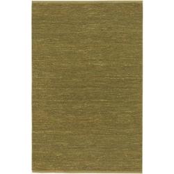 Hand-woven Cottage Lime Green Natural Fiber Jute Rug (5' x 8')