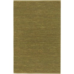Hand-woven Cottage Lime Green Natural Fiber Jute Rug (8' x 11')
