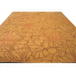 Hand-tufted Darma Gold Wool Rug (7' 9 x 9'9)