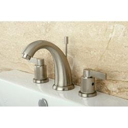 NuvoFusion Goose Neck Widespread Satin Nickel Bathroom Faucet