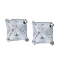 Sterling Essentials Sterling Silver Cubic Zirconia Stud Earrings