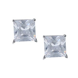 Sterling Essentials Sterling Silver White Cubic Zirconia Stud Earrings