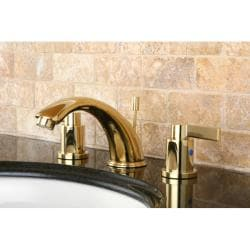 NuvoFusion Widespread Polished Brass Bathroom Faucet