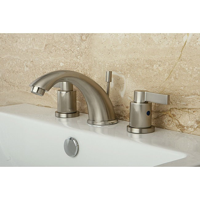NuvoFusion Widespread Satin Nickel Bathroom Faucet - 13304266 ...