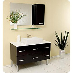 Fresca Distante Espresso Modern Bathroom Vanity Set