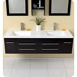 Fresca Bellezza Espresso Double Sunken-sink Bathroom Vanity