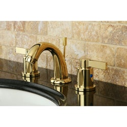 NuvoFusion Mini-Widespread Polished Brass Bathroom Faucet