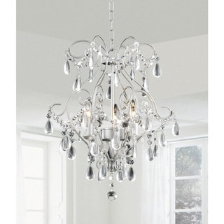 Elisa 3-light Spray Paint Silver Chandelier