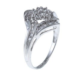 Sterling Essentials Sterling Silver Round-cut Cubic Zirconia Cocktail Ring