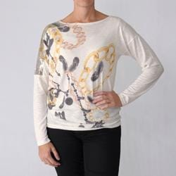 California Bloom Women's Sequin Detail Long-sleeve Top