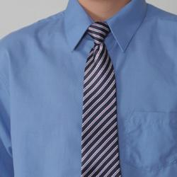 Stylish Gioberti by Boston Traveler Boy's Dress Shirt and Tie Set