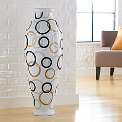 Modern Circles Decorative Urn Vase (Indonesia)