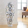 Modern Circles Decorative Urn Vase (Indonesia)