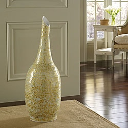 Golden Shimmer Mosaic Floor Vase (Indonesia)