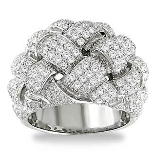 Miadora Signature Collection 18k White Gold 1 3/4ct TDW Pave Round-cut Diamond Ring (G-H, I1-I2)