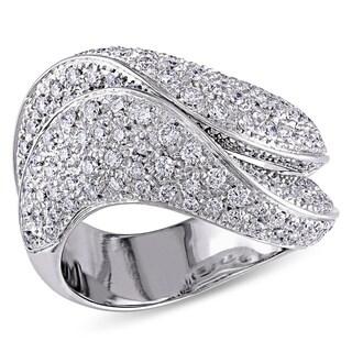 SHIRA 18k White Gold 1 3/4ct TDW Pave Diamond Ring (G-H, I1-I2)