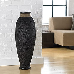 Ubud Rice Husk Decorative Urn Vase (Indonesia)