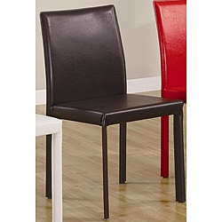 Euro Design Brown Faux Leather Dining Chairs (Set of 4)
