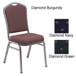 NPS Silhouette Fabric Banquet Stackable Chair (Pack of 2)
