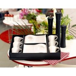 Red Vanilla Vanilla Fare Set of 6 Espresso Cups and Saucers