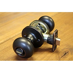 Sure-Loc Vintage Bronze Mushroom-shaped Privacy Door Knob