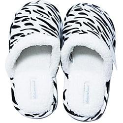 Leisureland Women's Cotton Zebra Slippers